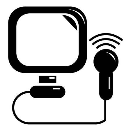 Ultrasound icoon. Eenvoudige illustratie van echografie vector icoon voor web Vector Illustratie