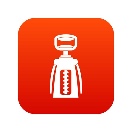 Modern corkscrew icon digital red