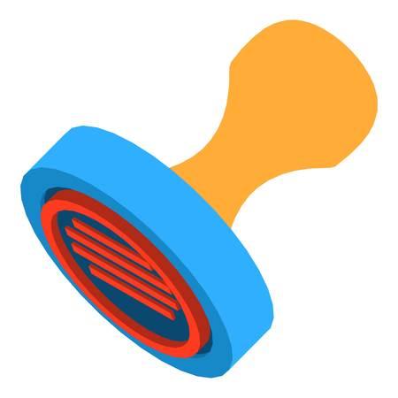Post stamp icon. Isometric illustration of post stamp vector icon for web Illustration