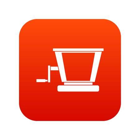 Oude druif juicer pictogram digitale rood voor elk ontwerp geïsoleerd op witte vectorillustratie