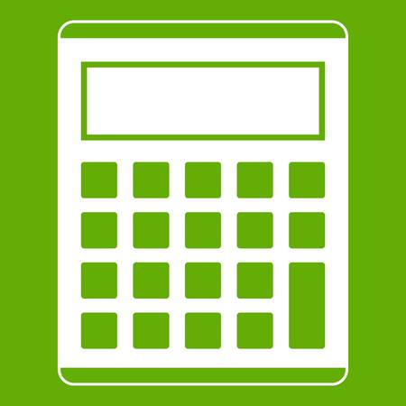 addition: Office, school electronic calculator icon green