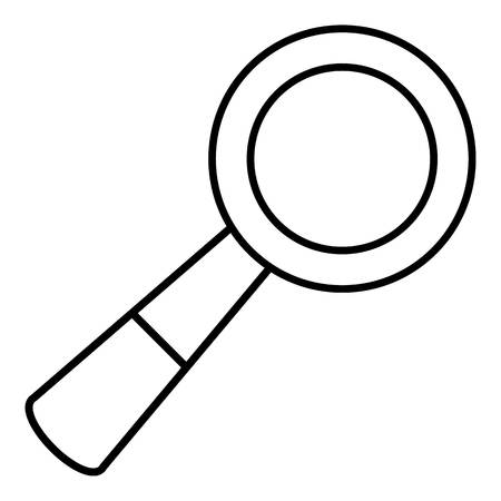 School loupe icon, outline line style Illustration