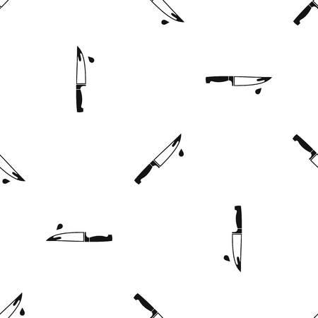 Steel knife pattern seamless black