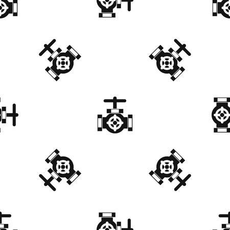 Tuyau avec un motif de vannes répétez transparente dans la couleur noire pour toute conception. illustration vectorielle géométrique Banque d'images - 84747183