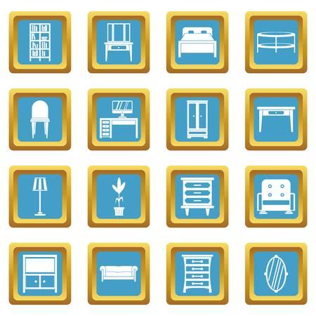 Furniture icons azure