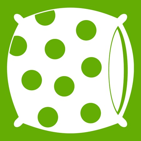 Pillow with dots icon green