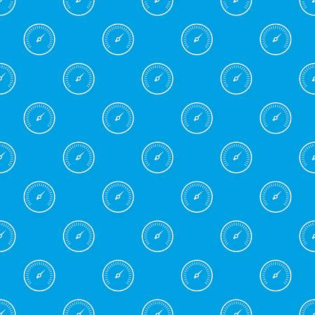 Speedometer pattern seamless blue