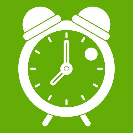 Alarm clock retro classic design icon green