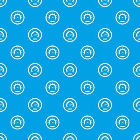 Speedometer pattern repeat seamless in blue color for any design. Vector geometric illustration Illustration