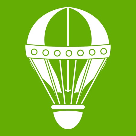 Vintage hot air balloon icon green