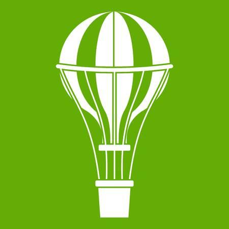 Air balloon journey icon green