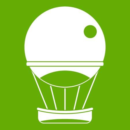 Aerostat balloon icon green