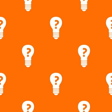 Light bulb with question mark inside pattern seamless Illustration