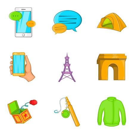 Snapshot icons set, cartoon style Illustration