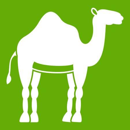 Camel icon green Illustration