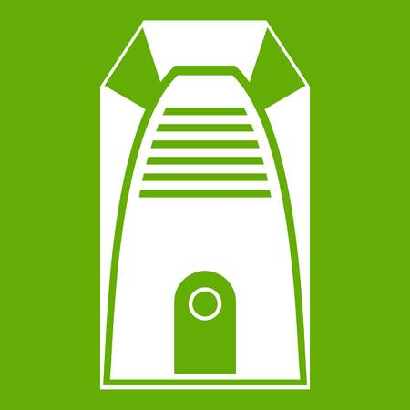 electric grid: Modern electric home heater icon green