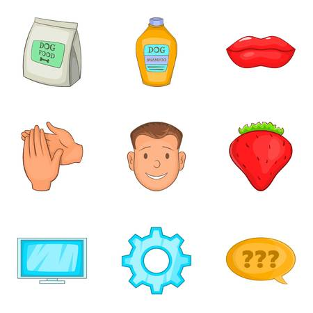 Propagator icons set. Cartoon set of 9 propagator vector icons for web isolated on white background Illustration