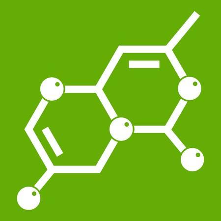 Crystal lattice icon green Illustration
