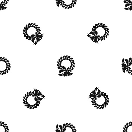merry christmas wreath pattern seamless black royalty free cliparts