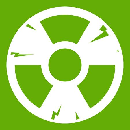 uranium: Radiation sign icon green