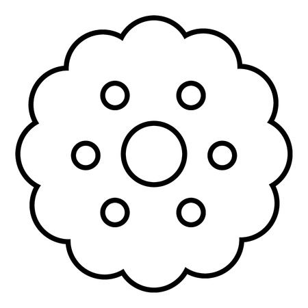 Biscuits icon, outline line style