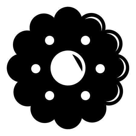 Biscuits icon, simple black style Ilustração
