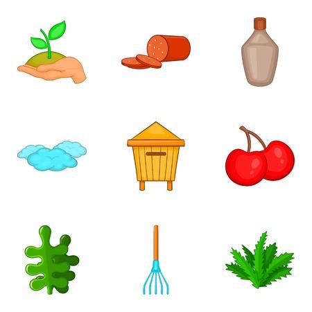 blanks: Home blanks icons set, cartoon style Illustration