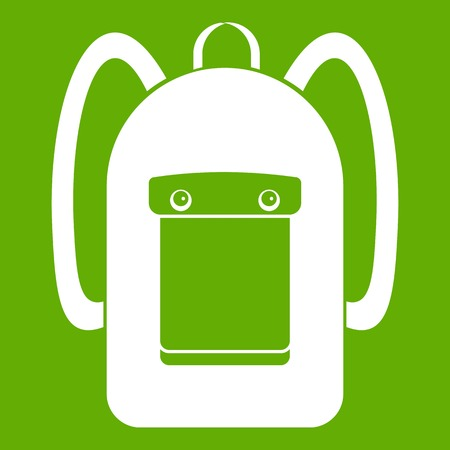 Backpack icon green Illustration