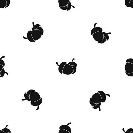 도토리 패턴 원활한 블랙