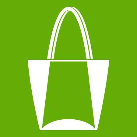 Big bag icon green Illustration