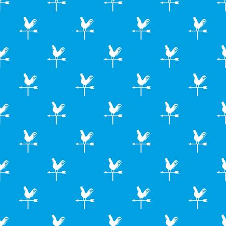 windward: Weather vane with cock pattern seamless blue