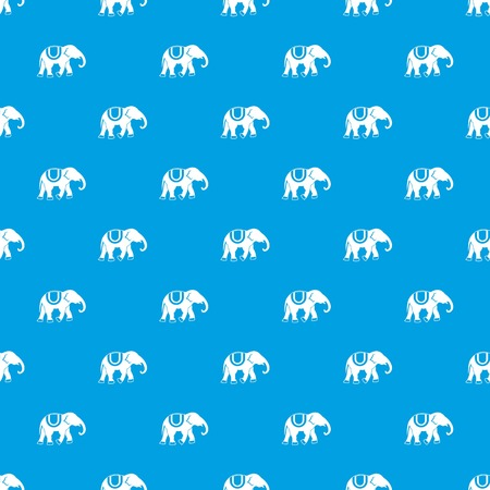 Elephant pattern seamless blue