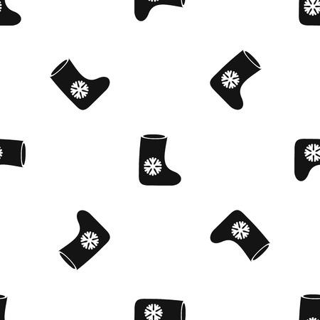 Vilt laarzen patroon naadloze zwart Stock Illustratie