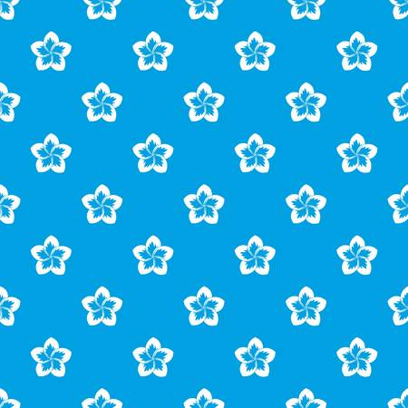 Frangipani flower pattern seamless blue Illustration