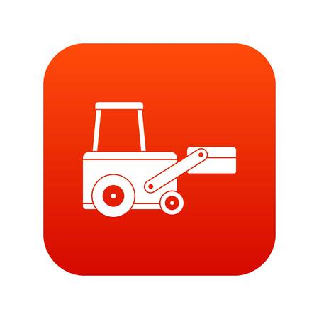 Truck to lift cargo icon digital red for any design isolated on white vector illustration Illustration