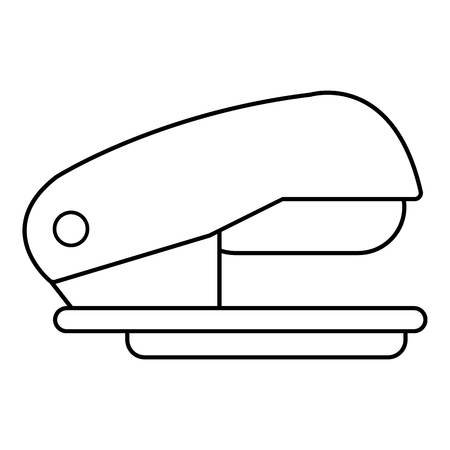 office stapler: Stapler icon, outline line style