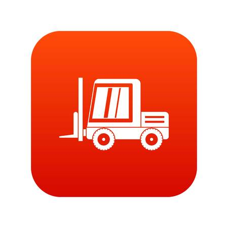 Stacker loader icon digital red Illustration