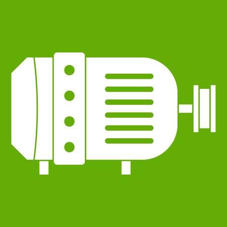 電気モーター アイコン緑