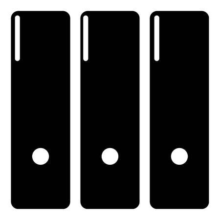 Office folder icon, simple black style