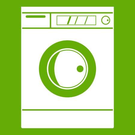 Washing machine icon green