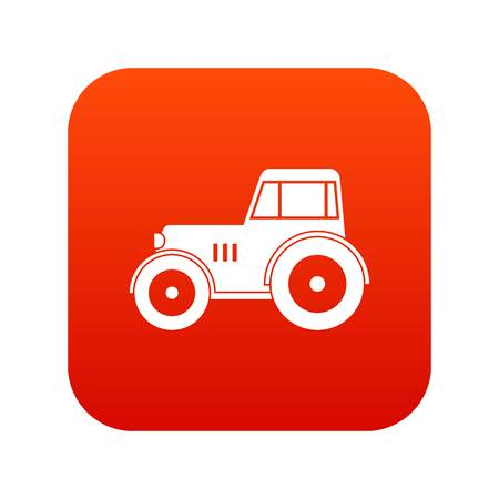 heavy metal: Tractor icon digital red