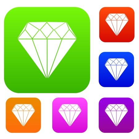 Diamond set collection Illustration