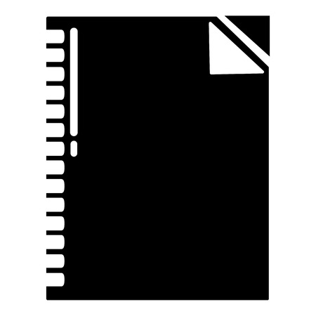 Notebook icon, simple black style Illustration