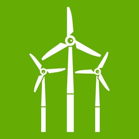 Windmill icon green