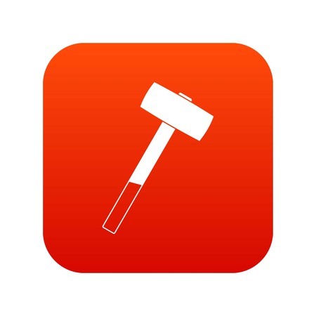 Sledgehammer icon digital red for any design isolated on white vector illustration