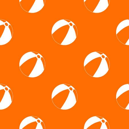 mixed wallpaper: Ball for children to play pattern repeat seamless in orange color for any design. Vector geometric illustration