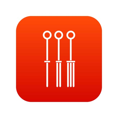 Tattoo needles icon digital red for any design isolated on white vector illustration