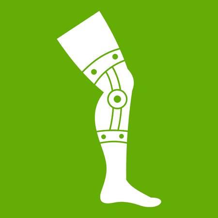 Retentive bandage icon white isolated on green background. Vector illustration Illustration