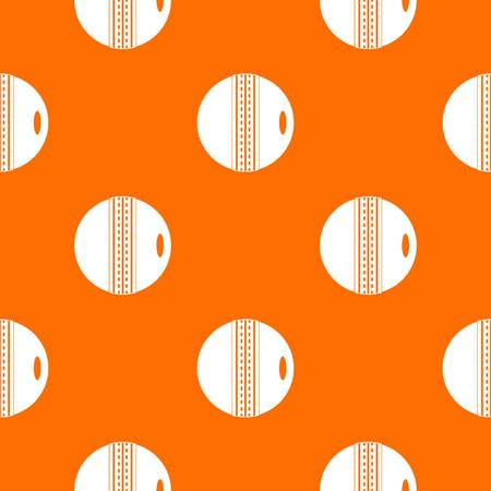 criket: Black and white cricket ball pattern repeat seamless in orange color for any design. Vector geometric illustration Illustration