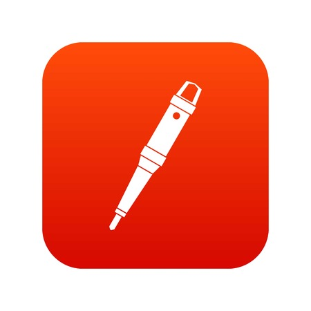 Grip of tattoo machine icon digital red for any design isolated on white vector illustration
